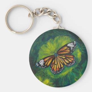 Mariposa de monarca del tigre de las creaciones de llaveros personalizados