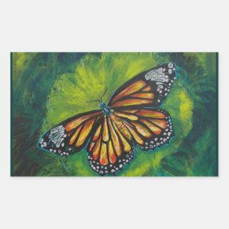 Mariposa de monarca del tigre de las creaciones de pegatinas