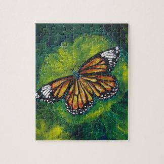 Mariposa de monarca del tigre de las creaciones de rompecabeza