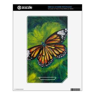 Mariposa de monarca del tigre de las creaciones de calcomanías para NOOK color