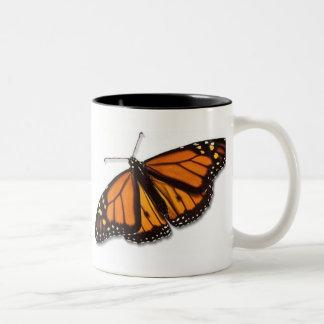 Mariposa de monarca Drinkware Taza De Dos Tonos