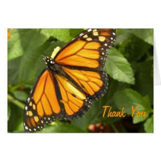 Mariposa de monarca - el personalizable le agradec tarjeta de felicitación