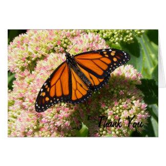 Mariposa de monarca - el personalizable le tarjeta de felicitación
