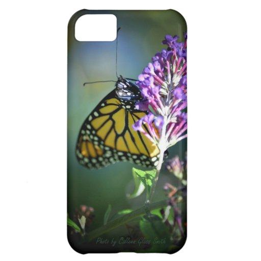 Mariposa de monarca en arbusto de mariposa funda para iPhone 5C