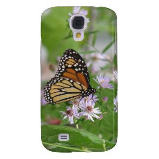 Mariposa de monarca en asteres funda samsung s4