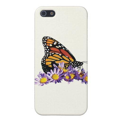 Mariposa de monarca en asteres iPhone 5 fundas
