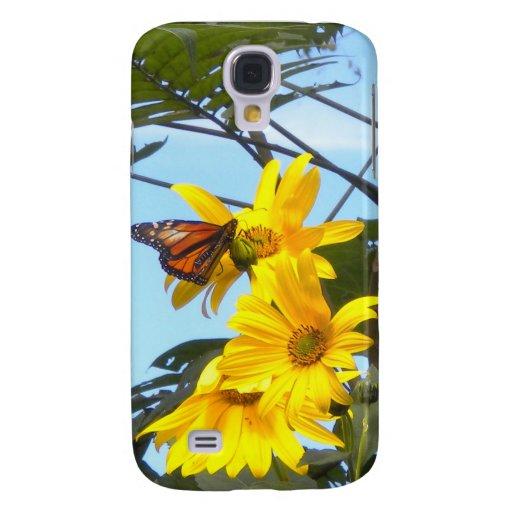 Mariposa de monarca en la caja del girasol iPhone3