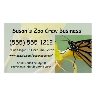 Mariposa de monarca en la parte posterior simple d plantilla de tarjeta personal