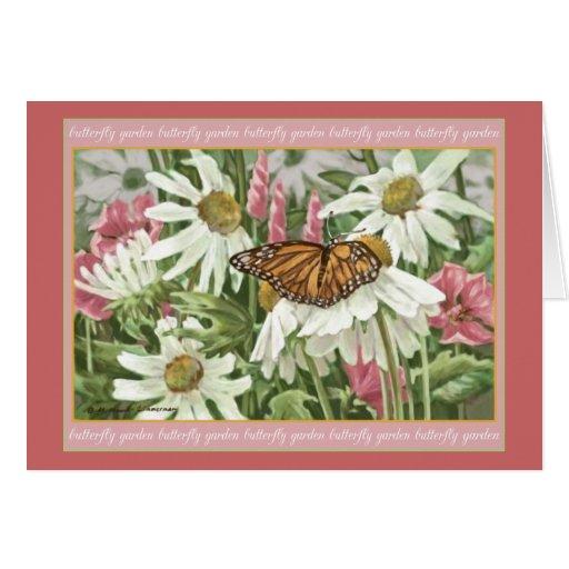 Mariposa de monarca en la pintura blanca de Conefl Tarjeta De Felicitación