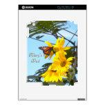 Mariposa de monarca en piel del iPad 2 de los gira iPad 2 Calcomanía