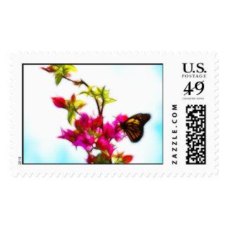 Mariposa de monarca estampillas
