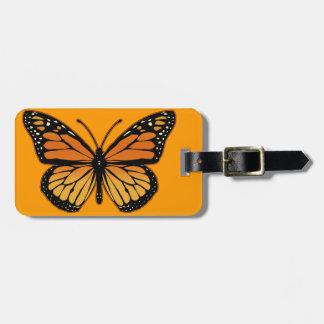 Mariposa de monarca etiqueta de equipaje