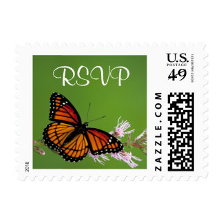 Mariposa de monarca - franqueo de RSVP Sello Postal