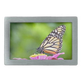 Mariposa de monarca hebilla de cinturon rectangular