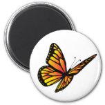 Mariposa de monarca imán de frigorifico