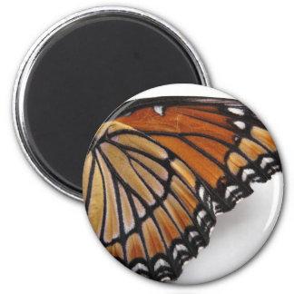 Mariposa de monarca imán redondo 5 cm