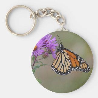 Mariposa de monarca llaveros