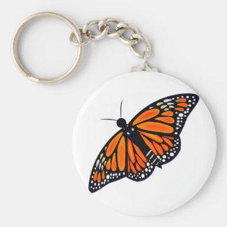 Mariposa de monarca llavero redondo tipo pin
