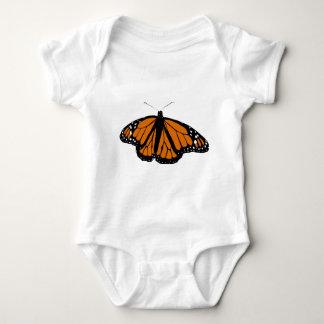 Mariposa de monarca negra y anaranjada camisas