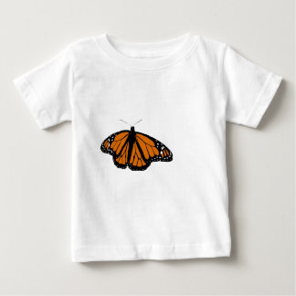 Mariposa de monarca negra y anaranjada playeras
