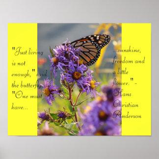 Mariposa de monarca pasada póster