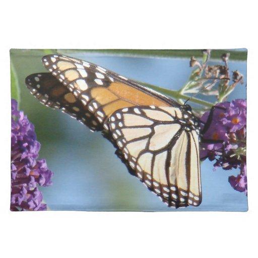 Mariposa de monarca Placemat Mantel