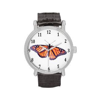 Mariposa de monarca reloj de mano