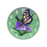 Mariposa de monarca reloj de pared