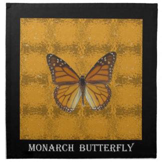 Mariposa de monarca servilleta imprimida