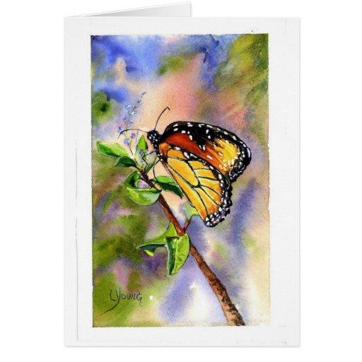 Mariposa de monarca tarjeta pequeña