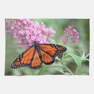Mariposa de monarca toalla de cocina