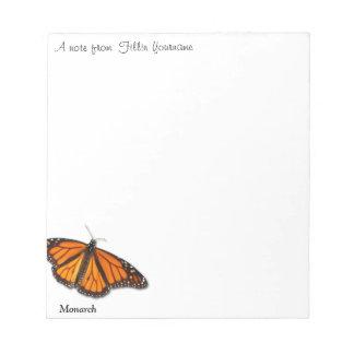 """Mariposa de monarca """"una nota de…"""" libreta bloc"""
