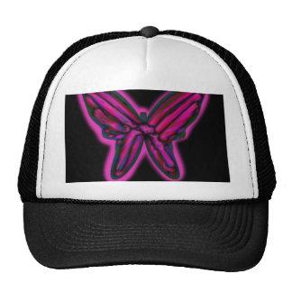 Mariposa de neón púrpura gorra