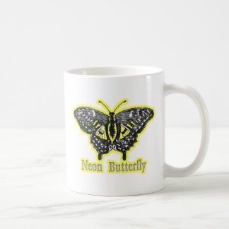 Mariposa de neón taza de café