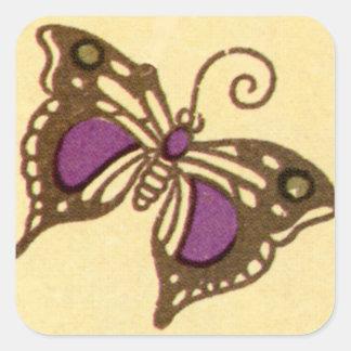 Mariposa de Nouveau del arte - pegatina