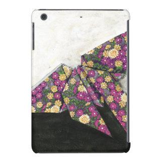 Mariposa de Origami en el papel floral Fundas De iPad Mini Retina