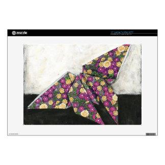 Mariposa de Origami en el papel floral Portátil Calcomanía