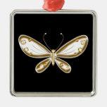 Mariposa de oro adorno de navidad