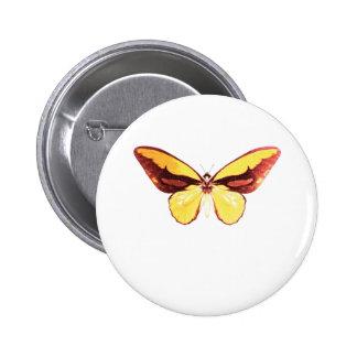 Mariposa de oro de Birdwing Pin Redondo De 2 Pulgadas