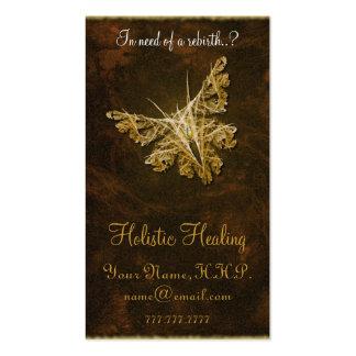 Mariposa de oro (modelo 2) - cura holística tarjetas de visita
