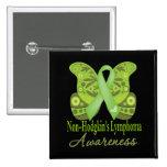 Mariposa de Paisley - linfoma de Non-Hodgkins Pin