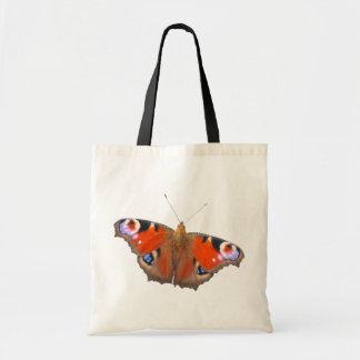 mariposa de pavo real bolsa tela barata