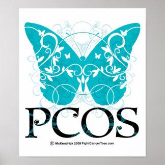 Mariposa de PCOS Póster