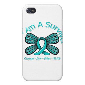 Mariposa de PKD soy un superviviente iPhone 4/4S Fundas