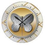 Mariposa de plata y de oro BG5 del efecto Relojes
