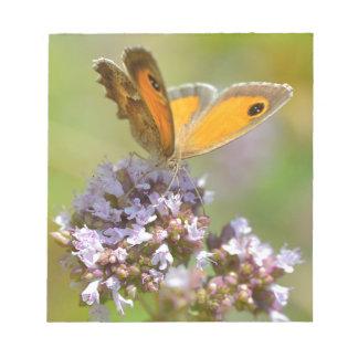 Mariposa de Pyronia en la flor Blocs De Notas