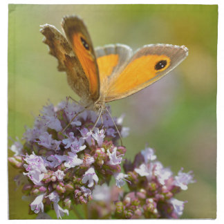 Mariposa de Pyronia en la flor Servilletas