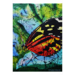 Mariposa de seda de la pintura de la bella arte de posters