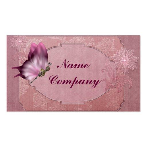 Mariposa de Steampunk en rosa Tarjeta Personal