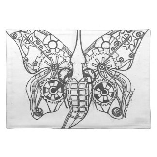 Mariposa de Steampunk Manteles Individuales